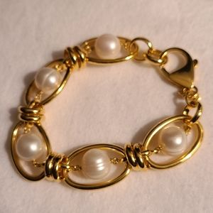 Bronze LE Italy  chain bracelet